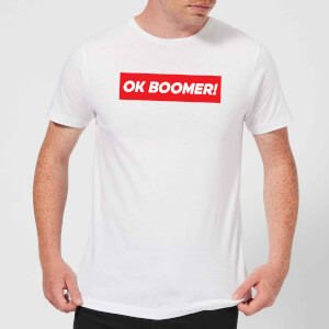 Ok Boomer! Block Men's T-Shirt - White