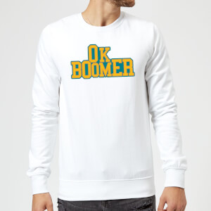 Ok Boomer College Sweatshirt - White