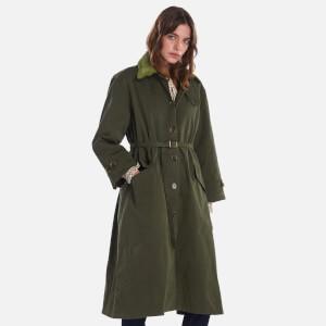 Barbour X Alexa Chung Women's Ellie Casual Jacket - Summer Military Green/Ancient Tartan