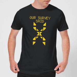 Family Fortunes Our Survey Said Men's T-Shirt - Black