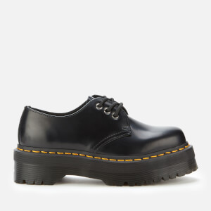 Dr. Martens Women's 1461 Quad Leather 3-Eye Shoes - Black