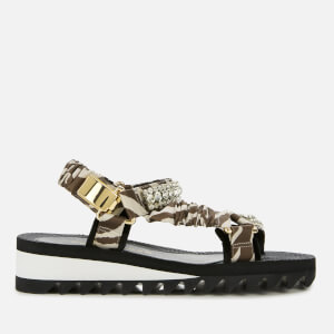 Kurt Geiger London Women's Orion Flat Sandals - Grey Mixed