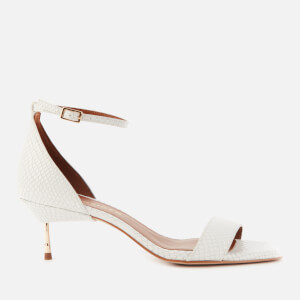 Kurt Geiger London Women's Birchin Mid Heeled Sandals - White
