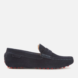 Kurt Geiger London Men's Louis Suede Driving Shoes - Navy