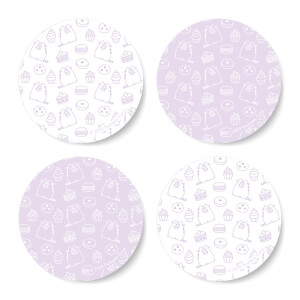 Pusheen Sweet Treats Round Coaster Set