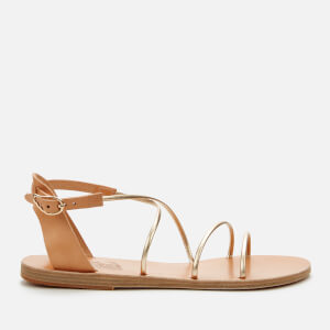 Ancient Greek Sandals Women's Meloivia Leather Sandals - Natural/Platinum