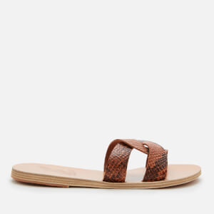 Ancient Greek Sandals Women's Desmos Printed Python Slide Sandals - Tampa