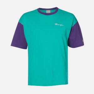 Champion Men's Colourblock Crew Neck T-Shirt - Green