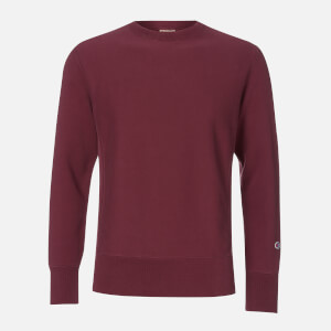Champion Men's Acid Wash Crewneck Sweatshirt - Burgundy