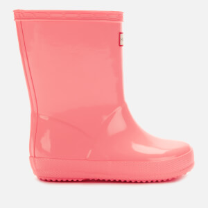 Hunter Toddlers' First Classic Gloss Wellies - California Sea Shelly