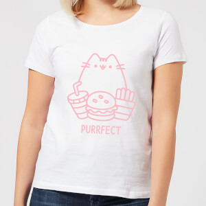 Pusheen Purrfect Junk Food Women's T-Shirt - White