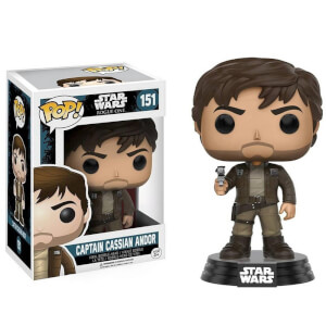 Star Wars Rogue One Cassian Andor Brown Jacket EXC Figura Pop! Vinyl