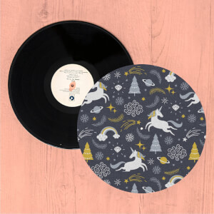 Christmas Unicorns Turntable Slip Mat