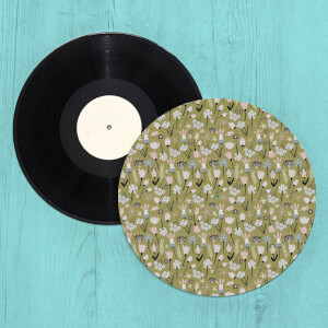 Wild Flowers Turntable Slip Mat