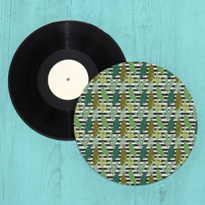 Modern Leaves Turntable Slip Mat