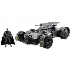 Mattel DC Comics Justice League Super Deluxe 1:10 R/C Batmobile & Figure 64cm