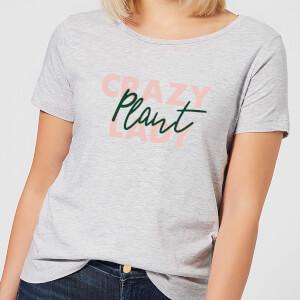 Crazy Plant Lady Script Women's T-Shirt - Grey
