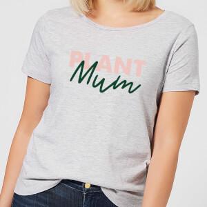 Plant Mum Script Women's T-Shirt - Grey