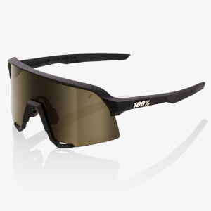 100% S3 Sunglasses with Soft Gold Lens