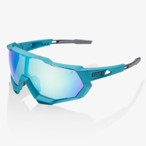 100% Speedtrap Peter Sagan Limited Edition Sunglasses with Blue Multiplayer Mirror Lens
