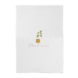 Burnt Orange Plant Mum Cotton Tea Towel