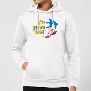 I'm Outta Here Hoodie - White
