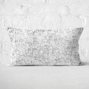 Faces Rectangular Cushion