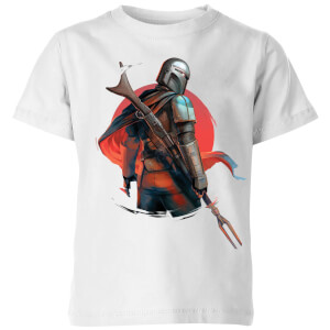 Camiseta The Mandalorian Blaster Rifles - Niño - Blanco