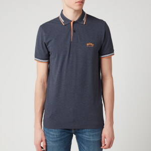 BOSS Hugo Boss Men's Paul Curved Polo Shirt - Navy