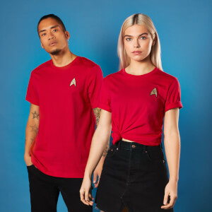 Camiseta Star Trek Bordado Operations Badge - Unisex - Rojo