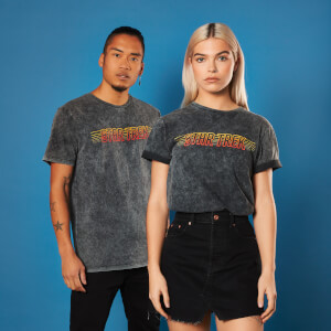Star Trek - T-shirt Star Trek Title Acid Wash - Noir - Unisexe