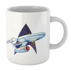 Retro Star Trek Mug - White
