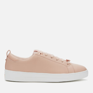 Ted Baker Women's Tedah Branded Leather Trainers - Pink