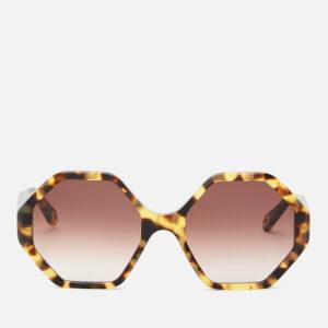 Chloé Women's Octagon Frame Acetate Sunglasses - Havana