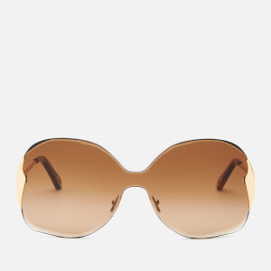Chloé Women's Curtis Square Frame Sunglasses - Gold/Gradient Brown