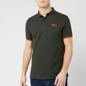 Barbour International Men's Essential Tipped Polo Shirt - Jungle Green