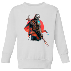 The Mandalorian Blaster Rifles Kids' Sweatshirt - White