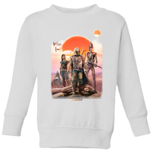 The Mandalorian Warriors Kids' Sweatshirt - White