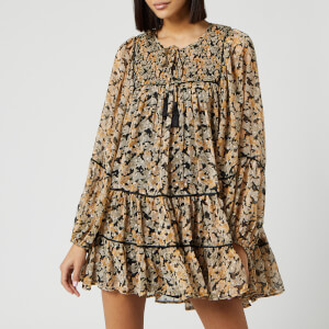 Free People Women's Free Swinging Mini Dress - Black Combo