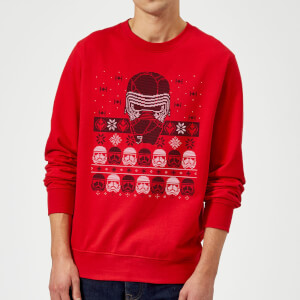 Star Wars Kylo Ren Ugly Holiday Sweatshirt - Red