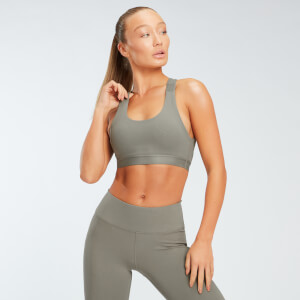 Power Mesh Sports Bra - Brindle