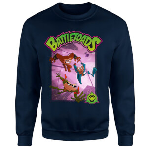 Battle Toads Hop Sweatshirt - Navy