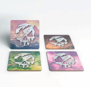 Sea of Thieves Logo Square Coaster Set