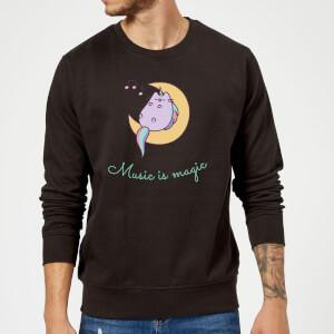 Pusheen Music Is Magic Sweatshirt - Black