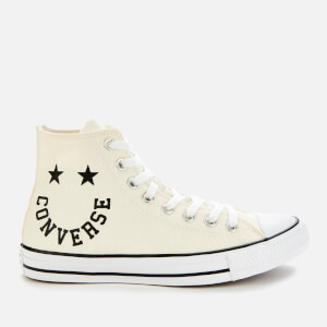 Converse Men's Chuck Taylor All Star Smile Hi-Top Trainers - Egret/Black/White