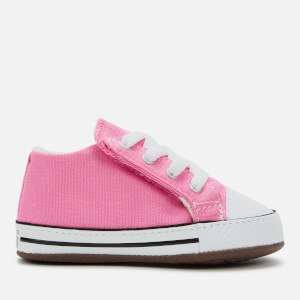 Converse Babies Chuck Taylor All Star Cribster Canvas Color Mid Trainers - Pink/Natural Ivory/White