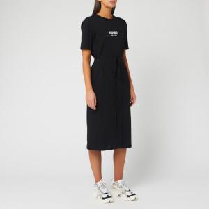 KENZO Women's Belted T-Shirt Dress - Black