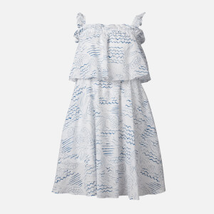 KENZO Women's Strapless Ruffles Dress - Duck Blue
