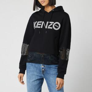 KENZO Women's Kenzo Sport Hoody Mix Mesh - Black