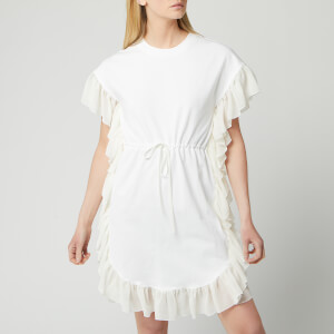 See By Chloé Women's T-Shirt Tie Waist Dress - White Powder